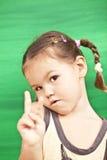 tła dziewczyny zieleń fotografia stock