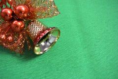 tła dzwonkowa bożych narodzeń zieleń Obraz Royalty Free