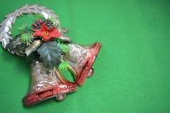 tła dzwonkowa bożych narodzeń zieleń Fotografia Royalty Free
