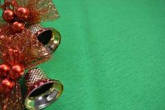 tła dzwonkowa bożych narodzeń zieleń Obraz Stock
