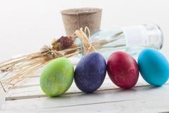 tła Easter jajka biały Obrazy Stock