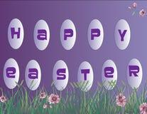 tła Easter szczęśliwa ilustracja Obraz Royalty Free
