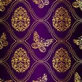 tła Easter złocisty purpurowy bezszwowy ilustracja wektor