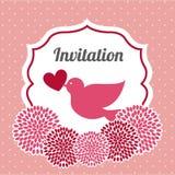 tła eleganci serc zaproszenia romantycznego symbolu ciepły ślub ilustracji