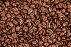 tła fasoli brąz zakończenia kawa w górę widok Zdjęcia Stock