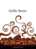 tła fasoli kawa smażył gorącego wektorowego biel ilustracja wektor