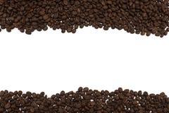 tła fasoli kawy odosobnionego strzału pracowniany biel Obraz Stock