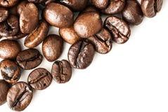 tła fasoli kawy odosobnionego strzału pracowniany biel Obrazy Royalty Free