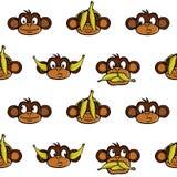 tła głów małpa Obrazy Stock