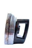 tła głębii pola ostrości pierwszoplanowy intencjonalny żelazo odizolowywał starą płytką pracownianą biały pracę Obraz Royalty Free