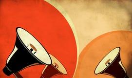 tła głośników trzy rocznik royalty ilustracja