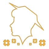 tła głowy konturu sylwetki biała kobieta Fotografia Royalty Free