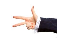 tła gesturings ręki odosobniony biel Fotografia Royalty Free