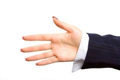 tła gesturings ręki odosobniony biel Zdjęcie Royalty Free