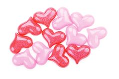 tła glansowanych serc różowy czerwony biel Fotografia Royalty Free