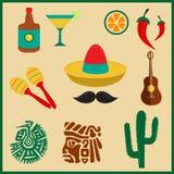 tła granic kraj wyszczególniać flaga ikony odizolowywali Mexico regionu ustalonego kształta biel Zdjęcia Stock