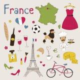 tła granic kraj wyszczególniał flaga France ikony odizolowywającego regionu ustalonego kształta biel Zdjęcia Royalty Free