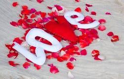 tła grunge letterpress miłości przypadkowy typ słowo Fotografia Royalty Free