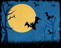 tła Halloween noc papercraft przetwarzający Obrazy Royalty Free