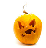 tła Halloween odosobniony dyniowy biel Obrazy Stock