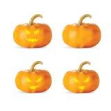 tła Halloween odosobniony dyniowy biel fotografia stock