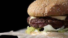 tła hamburgeru zakończenia tekstury tekstura use zbiory wideo