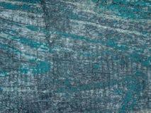 Tła i tekstury pojęcie - stary drewniany ogrodzenie malował w błękitnym tle zdjęcia royalty free