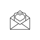 tła ikony ilustraci listu miłości biel Fotografia Stock