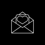 tła ikony ilustraci listu miłości biel Fotografia Royalty Free