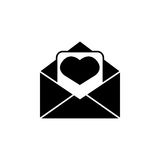 tła ikony ilustraci listu miłości biel Zdjęcie Stock