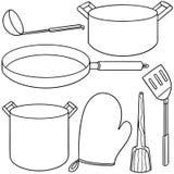 tła ilustracja odizolowywający kuchni narzędzia biel ilustracja wektor
