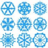 (1) tła ilustracyjni ustaleni płatek śniegu vector biel również zwrócić corel ilustracji wektora Obrazy Stock
