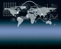 tła ilustracyjny mapy wektoru świat Obraz Royalty Free