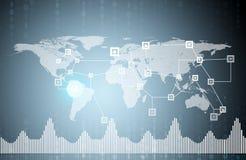 tła ilustracyjny mapy wektoru świat Fotografia Stock