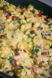 tła jajek omletu rozdrapany biel Zdjęcia Stock