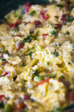 tła jajek omletu rozdrapany biel Obraz Royalty Free