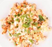 tła jajek omletu rozdrapany biel zdjęcie stock