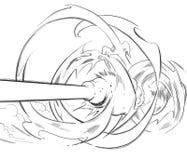 tła kanonu komiczna rysująca ręka Zdjęcia Stock