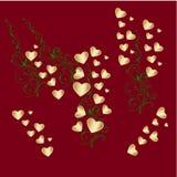tła karciana czerwień karciany valentine vignetting Zdjęcia Royalty Free