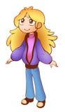 tła karciana kreskówki dziewczyny powitania strony szablonu cechy ogólnej sieć royalty ilustracja
