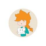 tła karciana kreskówki dziewczyny powitania strony szablonu cechy ogólnej sieć Fotografia Stock