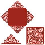 tła karciana powitania strony szablonu cechy ogólnej sieć royalty ilustracja