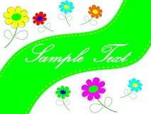tła karcianego projekta kwiecista kwiatów ilustracja twój Zdjęcie Stock