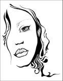 tła karcianej twarzy powitania strony szablonu ogólnoludzka sieci kobieta Fotografia Royalty Free