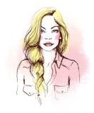tła karcianej twarzy powitania strony szablonu ogólnoludzka sieci kobieta Mody ilustracja Obraz Royalty Free