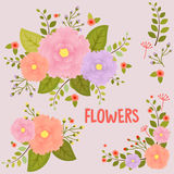 tła karciani kwiaty strony szablonu ogólnoludzką rocznika sieć Zdjęcie Stock