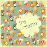 tła karciany kremowy jedzenia lodu rocznik Obraz Stock