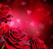 tła karciany serc róż valentine wektoru ślub Obraz Royalty Free