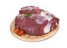 tła karmowego wizerunku mięsne surowe serie biały Fotografia Stock