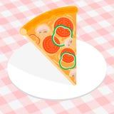 tła karmowy zdrowy włoski kawałka pizzy biel Zdjęcia Stock